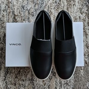 Vince Corbin Slip-on Sneakers - Black - Sz 8